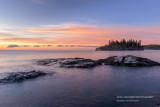 Dawn near Split Rock lighthouse, Ellingsen island