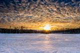 Sunset at Audie Lake