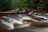 Morgan Creek, running high
