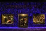 Window shopping in blue
