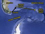 Falkland Islands to South Georgia Island
