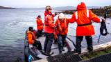 Arrival at Carcass Island