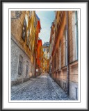 A narrow street in the old town...