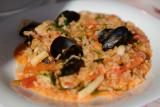 Seafood risotto, Ambel Perivolo, Drymades Beach