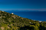 View towards Corfu Island, Dhërmi Village