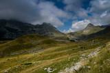Upper Poscenska Valley with Sedlo Pass 1907m behind, Durmitor NP