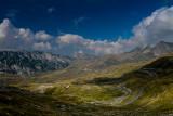 Dobri Do 1700m from Sedlo Pass 1907m, Durmitor NP