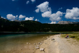 Black Lake (Crno Jezero) 1416m with Crvena Greda 2164m behind, Durmitor NP