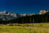 Durmitor panorama from Obla Glava 2303m to Crvena Greda 2164m closer on the right, Durmitor NP