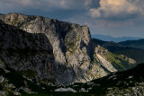 Zuta Greda 2118m from the eastern ascent to Obla Glava 2303m, Durmitor NP