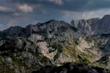 Cvorov Bogaz 2152m, behind Veliki Meded 2287m, far behind Savin Kuk 2313m, a view point near Ledena Pecina 2160m, Durmitor NP