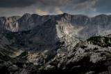 Terzin Bogaz 2303m, behind Sljeme ridge 2455m, a view point near Ledena Pecina 2160m, Durmitor NP