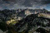 Veliki Meded 2287m, Terzin Bogaz 2303m, far behind Sljeme ridge 2455m, a view point near Ledena Pecina 2160m, Durmitor NP