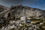 Aneta and Alex, picnic near Ledena Pecina 2160m in Obla Glava massif, Durmitor NP