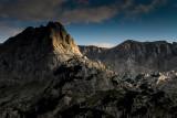 Terzin Bogaz 2303m and Sljeme ridge 2455m behind from Obla Glava descent, Durmitor NP