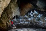 Alex in Ledena Pecina (ice cave) 2160m in Obla Glava massif, Durmitor NP