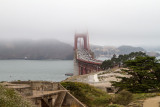 Golden Gate and one of the many batteries