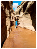 Long Canyon First Wet Narrows