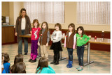 Norah's troop at Girl Scout World Thinking Day