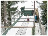 Riding the chute