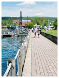 Walking along the marina at Senca Lake