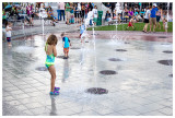 Running through the fountains in Rapid City
