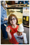 Ice cream came only in one size - too big for even Norah to finish!