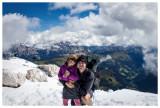 Steve and Norah on Piz Boe summit