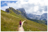 Hitting the trail from Seceda