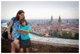 Kathy and Norah at Piazzele Castel San Pietro
