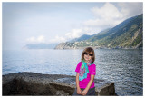 Norah on the trail by Manarola