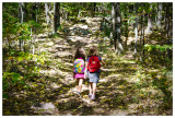 Emijo and Norah hiking