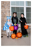 Trick or treating trio