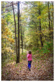 Norah on the trail