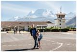 Steve, Norah, and Huascaran at the airport
