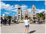 Norah at Plaza de Armas