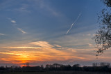 Sunset With The Contrail