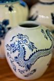 Blue Dragon On A Vase