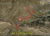 Damavand Camp1 - Camp2 Road Map