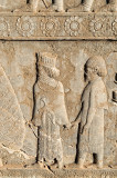 The Apadana Stone Relief - A courtier And The Greek Man