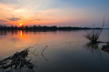Sunset At Wisla River