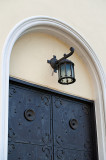 Small Lantern Over The Old Door