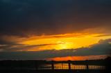 Fiery Sunset On The Bridge