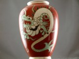 Dragon On The Red Vase