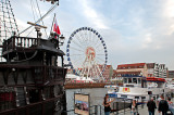 Old Ship And Ferris Wheel