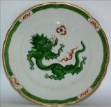 Green Dragon On Big Plate