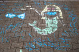 Chalk Mermaid On the Sidewalk