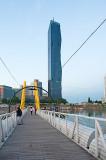 Foot Bridge On Donau River