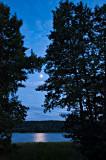 Blue Night On Wigry Lake