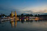 Donau River And Donauinsel